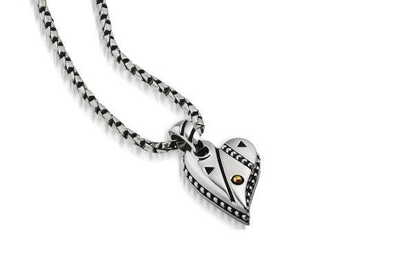 solar adore heart pendant necklace mother's day gift
