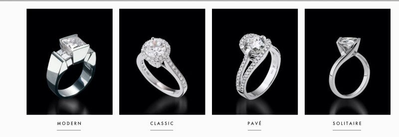 engagement ring styles by John Atencio