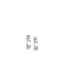 Load image into Gallery viewer, Women's 14-karat White Gold Orion Diamond Curl Earrings