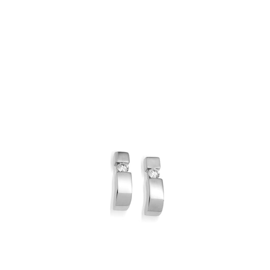Women's 14-karat White Gold Orion Diamond Curl Earrings