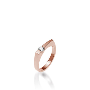 Women's 14 karat Rose Gold Polar Diamond Ring