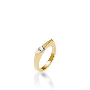 Women's 14 karat Yellow Gold Polar Diamond Ring