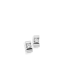 Load image into Gallery viewer, Women's 14-karat White Gold Orion Diamond Stud Earrings