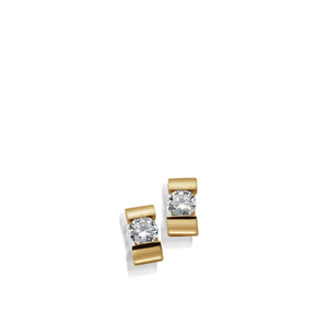 Women's 14-karat Yellow Gold Orion Diamond Stud Earrings