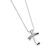 Load image into Gallery viewer, 14 karat White Gold La Paz Cross Pendant Necklace