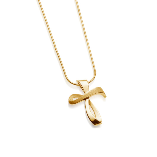 Serenity Cross Pendant Necklace in Yellow Gold