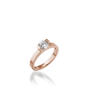 18 karat Rose Gold Delicia Solitaire Diamond Engagement Ring
