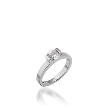 Load image into Gallery viewer, 18 karat White Gold Delicia Solitaire Diamond Engagement Ring