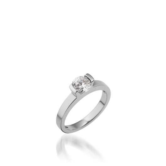 18 karat White Gold Delicia Solitaire Diamond Engagement Ring