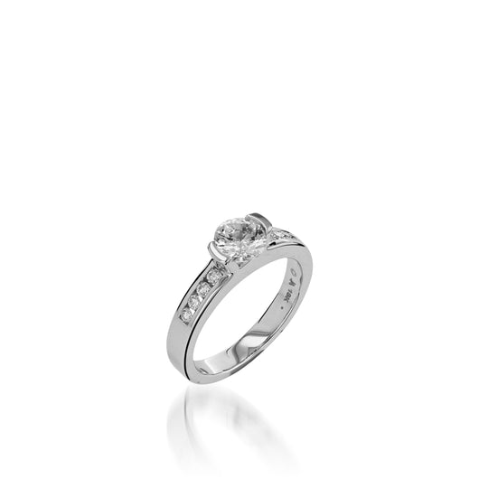 18 karat White Gold Delicia Channel Diamond Engagement Ring