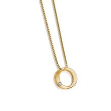 Load image into Gallery viewer, Women's 14 karat Yellow Gold Endearment Diamond Pendant Necklace