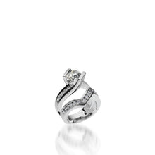 Load image into Gallery viewer, 18 karat White Gold Intrigue Round Brilliant Diamond Engagement Ring