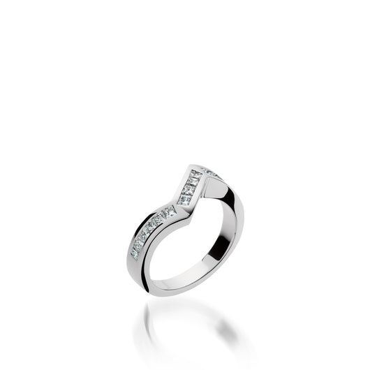 Intrigue Diamond Wedding Band
