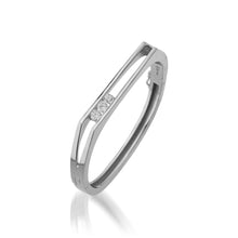 Load image into Gallery viewer, Lines 1.00 Carat Diamond Hinged Bracelet