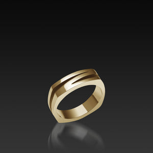 Men's 18-karat yellow gold Rayo Band