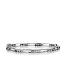 Load image into Gallery viewer, Women's 14 karat White Gold Lines 1.0 Carat Diamond Tennis Bracelet