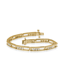 Load image into Gallery viewer, Women's 14 karat Yellow Gold Lines 2.0 Carat Diamond Tennis Bracelet