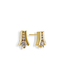 Load image into Gallery viewer, Venture Yellow Gold Diamond Earring
