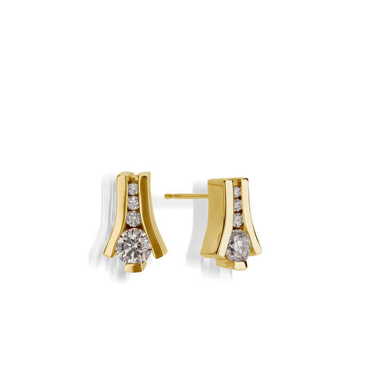Venture Yellow Gold Diamond Earring
