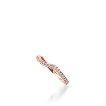 Load image into Gallery viewer, Rhapsody Rose Gold, Diamond Wedding Band