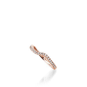 Rhapsody Rose Gold, Diamond Wedding Band