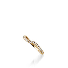Load image into Gallery viewer, Rhapsody Yellow Gold, Diamond Wedding Band
