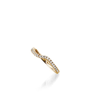 Rhapsody Yellow Gold, Diamond Wedding Band