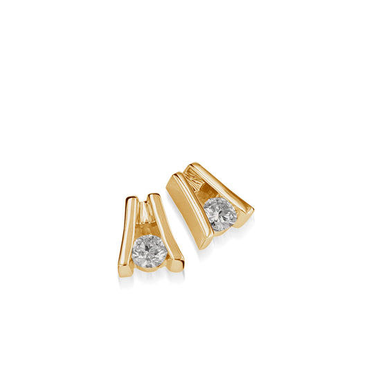 Venture Yellow Gold Diamond Solitaire Earring