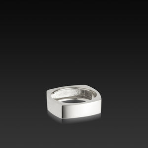 Men's 18 karat white gold Square Band