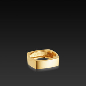 Men's 18 karat yellow gold Square Band
