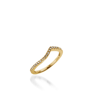 Mystere Diamond Wedding Band