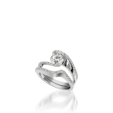 Load image into Gallery viewer, 18 karat White Gold Aquarius Engagement Ring