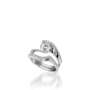 18 karat White Gold Aquarius Engagement Ring