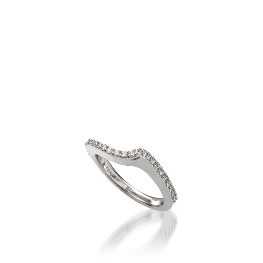 Aquarius White Gold, Diamond Wedding Band