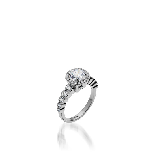 Dazzle White Gold Engagement Ring with 1 Carat Setting