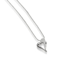 Load image into Gallery viewer, Women's 14 karat White Gold Adore Petite Heart Pendant Necklace