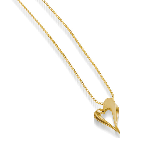 Women's 14 karat Yellow Gold Adore Petite Heart Pendant Necklace