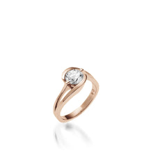 Load image into Gallery viewer, 18 karat Rose Gold Bellissima Solitaire Diamond Engagement Ring
