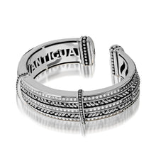 Load image into Gallery viewer, Women's Sterling Silver Apollo Five-Row Diamond Cuff Bracelet