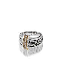 Load image into Gallery viewer, Sterling Silver Apollo Ring with Pave Diamonds