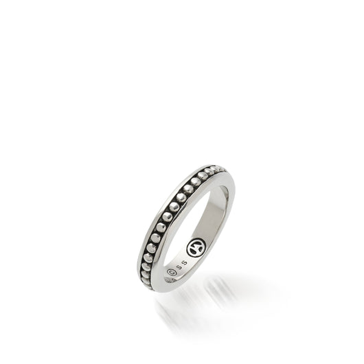 Women's Sterling Silver Antigua Ball Stack Ring