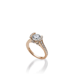 18 karat Rose Gold Siena Diamond Engagement Ring