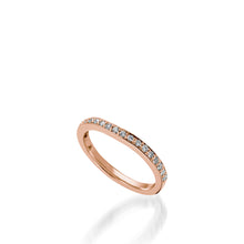 Load image into Gallery viewer, Siena Rose Gold,  Diamond Wedding Band