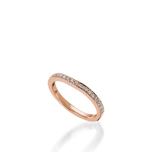 Siena Rose Gold,  Diamond Wedding Band