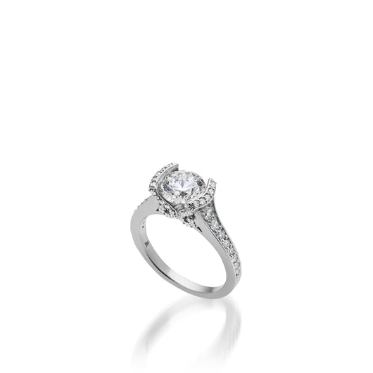 18 karat White Gold Siena Diamond Engagement Ring