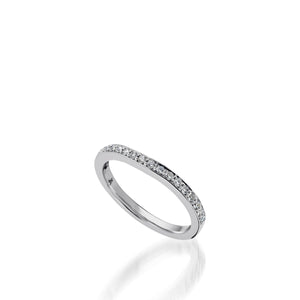 Siena White Gold,  Diamond Wedding Band