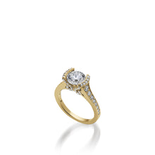 Load image into Gallery viewer, 18 karat Yellow Gold Siena Diamond Engagement Ring