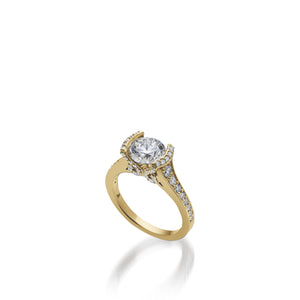 18 karat Yellow Gold Siena Diamond Engagement Ring