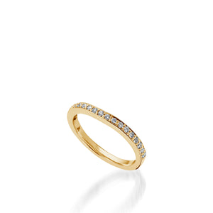 Siena Yellow Gold,  Diamond Wedding Band