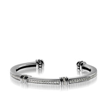 Load image into Gallery viewer, Women's Sterling Silver Apollo Pave Diamond Cuff Bracelet